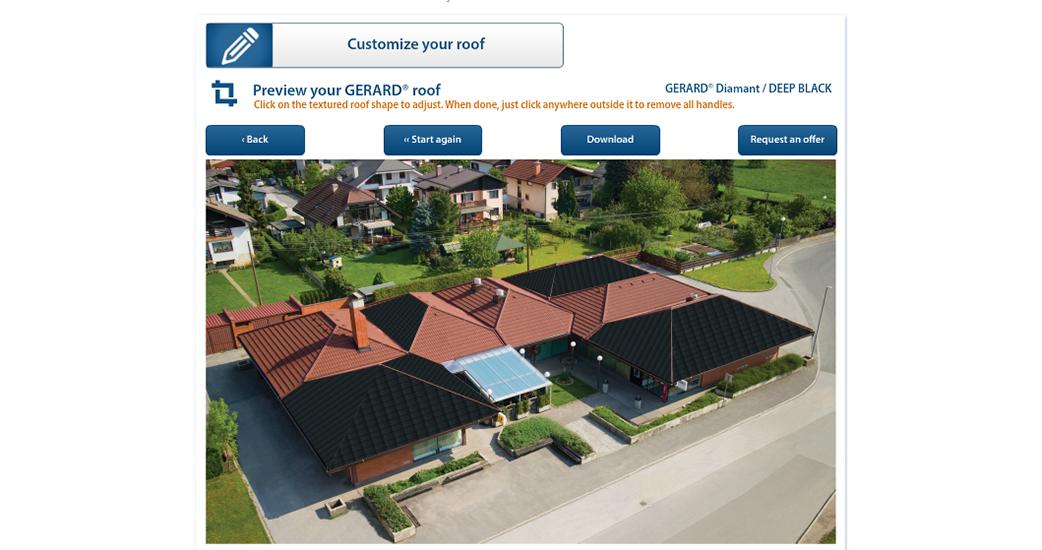 Oglejte si, kako bo vaša hiša videti s streho GERARD!